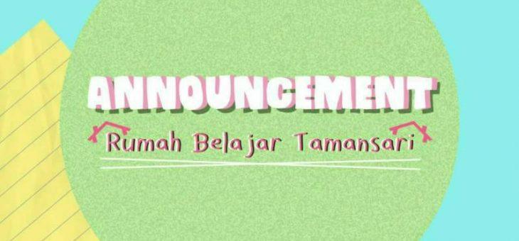 """RBT'18 """"Rumah Belajar Tamansari"""" Opening"""